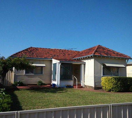 clay tile roof after cleaning