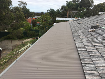 Colorbond tin roof replacement Perth